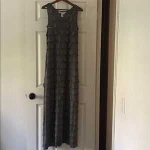 Maci grey long dress